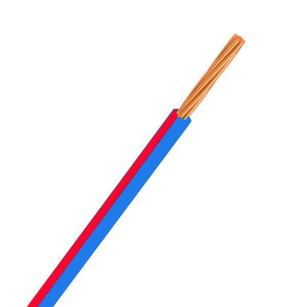 Automotive Single Core Cable, Blue & Red, 4mm, 23/.32 Stranding, 30M