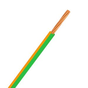 Automotive Single Core Cable, Green & Orange, 3mm, 14/.32 Stranding, 30M