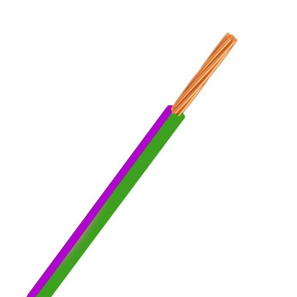 CABLE SINGLE 3MM GREEN/PURPLE 30M 14/.32 STRANDING Product Image 1