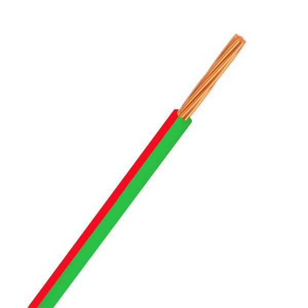Automotive Single Core Cable, Green & Red, 3mm, 14/.32 Stranding, 30M