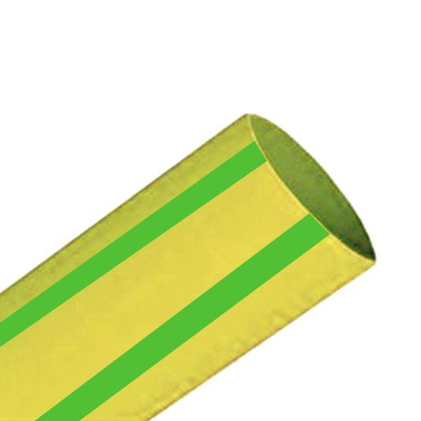 Heatshrink, 16mm, Green/Yellow, 100M Spool