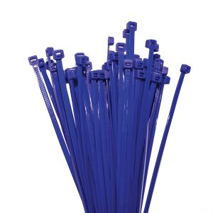 Cable Ties, Blue, 100mm x 2.5mm, 25 Pack