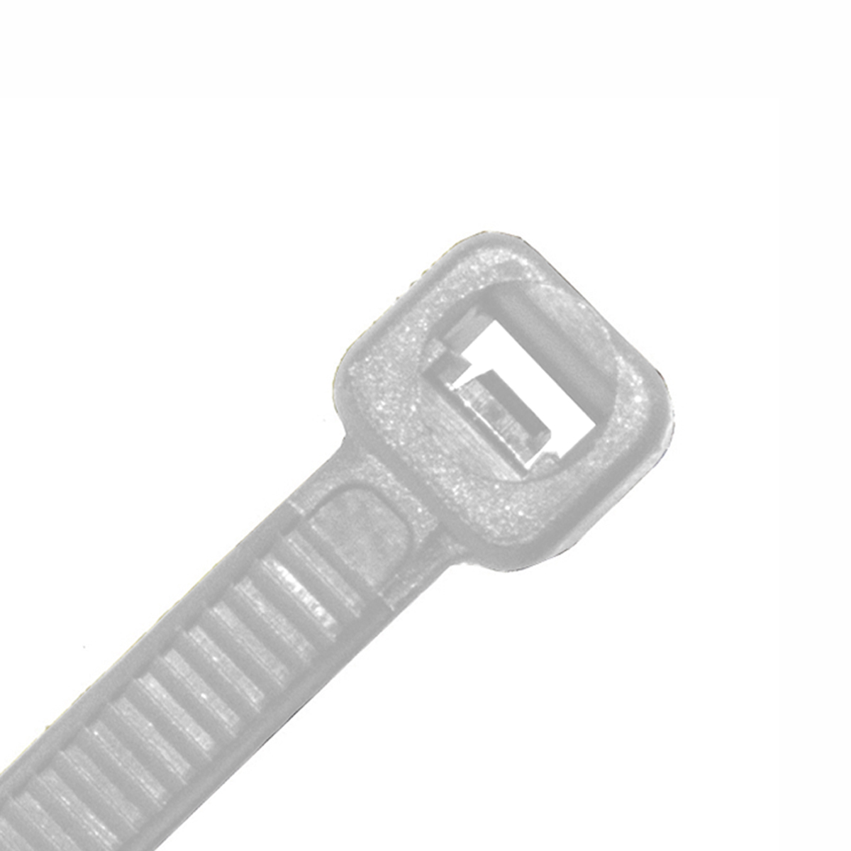 200mm X 3mm White Natural Cable Ties Pack Of 100