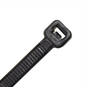Cable Tie, Black UV Treated Nylon, 160mm Long x 4.8mm Wide, Pack 100