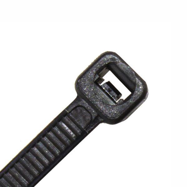 Cable Tie, Nylon UV, Black, 200mm x 7.6mm
