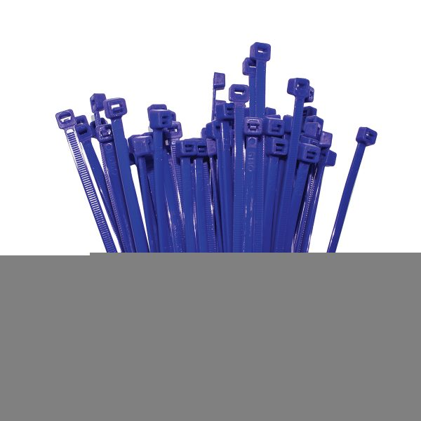 Cable Ties, Blue, 200mm x 4.8mm, 25 Pack