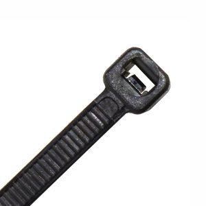 Cable Tie, Nylon UV, Black, 250mm x 4.8mm