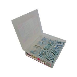 Metric GR4.6, Mild Steel Bolts, Zinc, 140 Piece Blister Pack