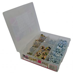 Metric Coarse, Hex & Nyloc Nuts, 310 Piece Blister Pack
