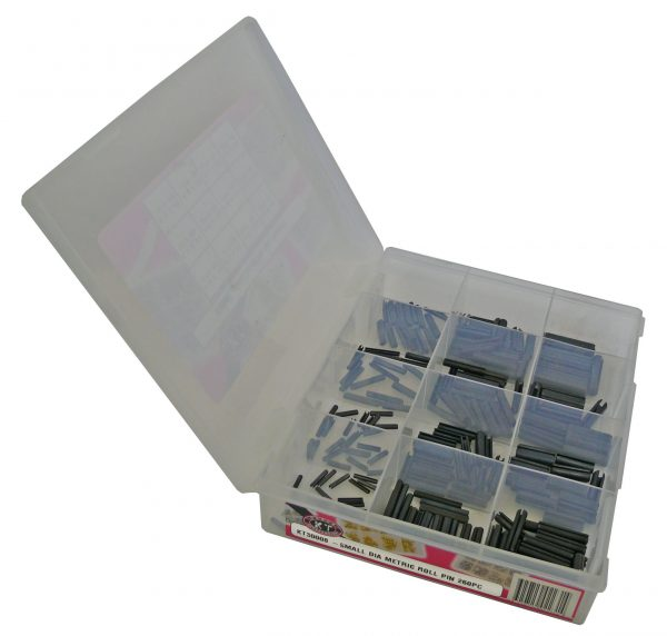 Roll Pin, Metric, Small Dia, 260 Piece Blister Pack