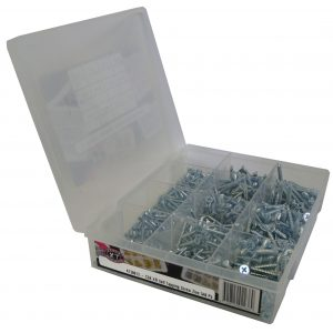 Self Tapping Screws, Zinc, CSK XR, 540 Piece Blister Pack