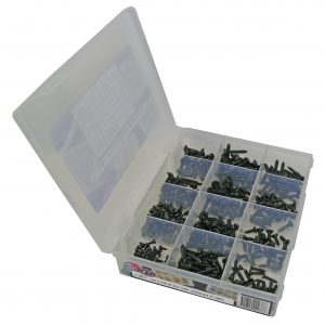 Tapping Screws, Black, CSK & Pan XR, Zp, Pack 540 Pcs