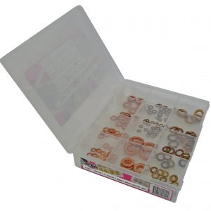 Spring Washer, Copper Flat & Bronze, 180 Piece Blister Pack