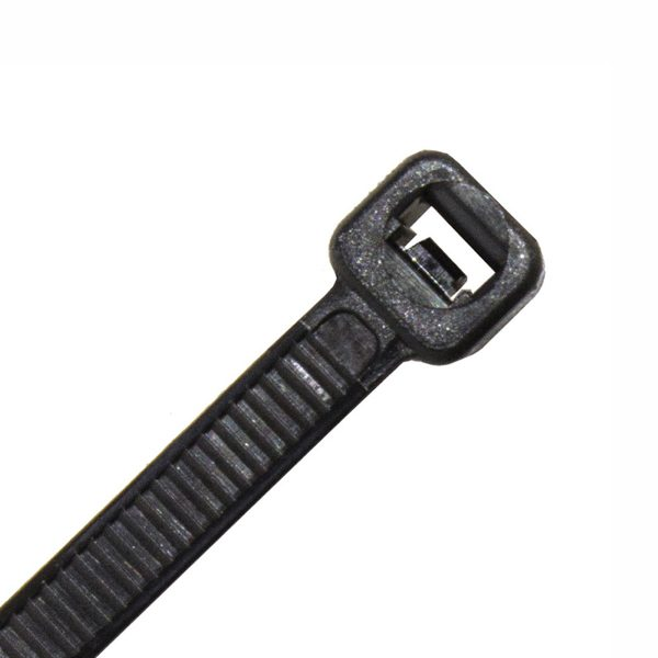 Cable Ties, Black, UV Treated, 300mm x 4.8mm, 25 Pack