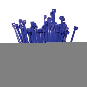 Cable Ties, Blue, 300mm x 4.8mm, 25 Pack