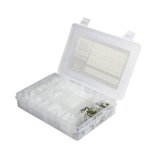 Housing Connector Kit Assortment White, QK Series, 174 Pieces