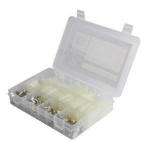 Housing Connector Kit Assortment White, QL Series, 140 Pieces
