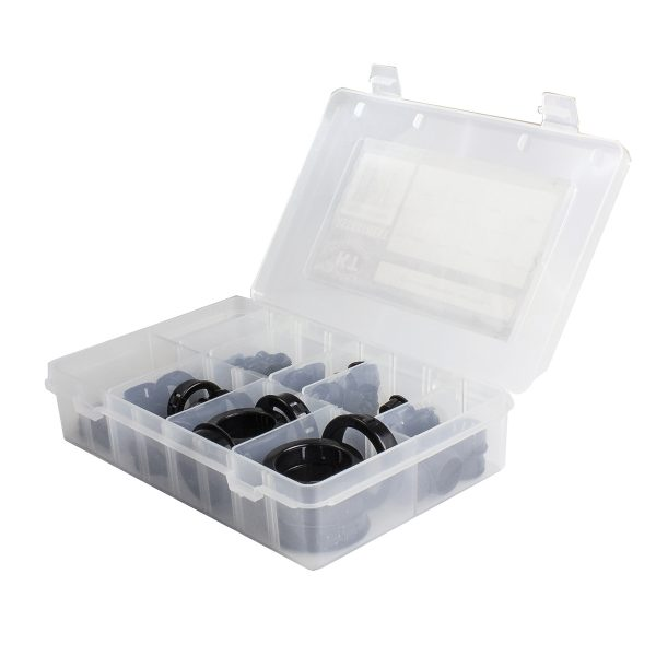 Snap Bushing Kit, Open, 105 Pcs