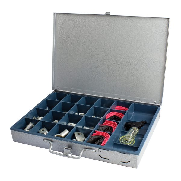 Copper Battery Lug & Heat Shrink Kit Assortment with Butane Gas Tool, 255 Pieces