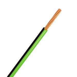 Automotive Single Core Cable, Green & Black, 3mm, 14/.32 Stranding, 100M