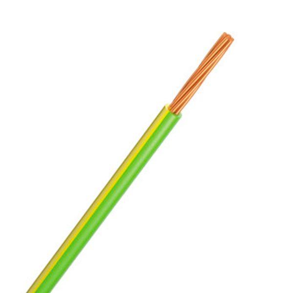 Automotive Single Core Cable, Green & Yellow, 3mm, 14/.32 Stranding, 100M