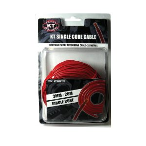 Automotive Single Core Cable, Red, 3mm, 16/.30 Stranding, 20M