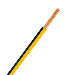 Automotive Single Core Cable, Yellow & Black, 3mm, 14/.32 Stranding, 30M