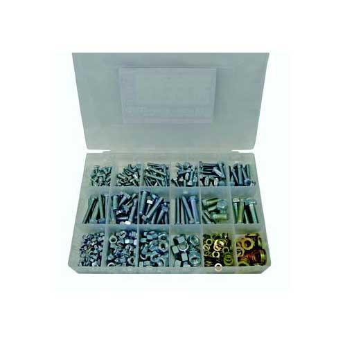 Bolt, Nut & G8 Washers, UNC, Zinc, H/T, 480 Piece Blister Pack