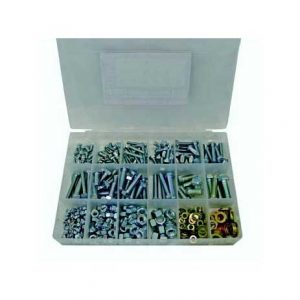Bolt, Nut & G8 Washers, Fine, Zinc, H/T, 480 Piece Blister Pack