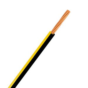 Automotive Single Core Cable, Black & Yellow, 4mm, 23/.32 Stranding, 30M