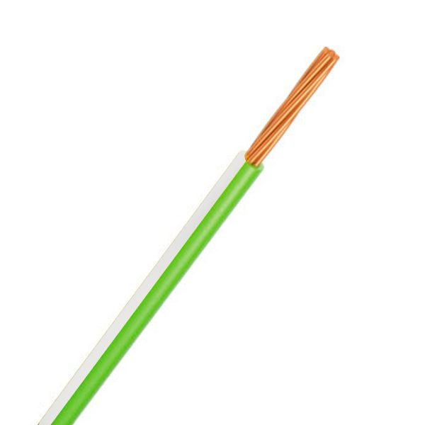 CABLE SINGLE 4MM GREEN/WHITE 30M 23/.32 STRANDING Product Image 1