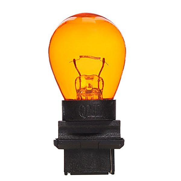 Wedge, 12V, 27/7W, W2.5x16q, Amber