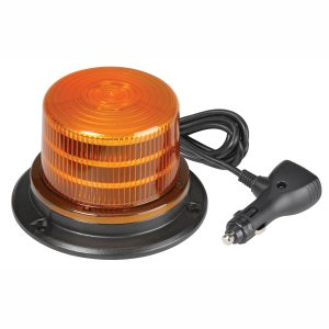 LED Beacon, Amber, Magnetic, 9-33V, With 12V Accessory Socket