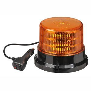 LED Beacon, Amber, Magnetic, 9-33V, With 12V Accessory Socket