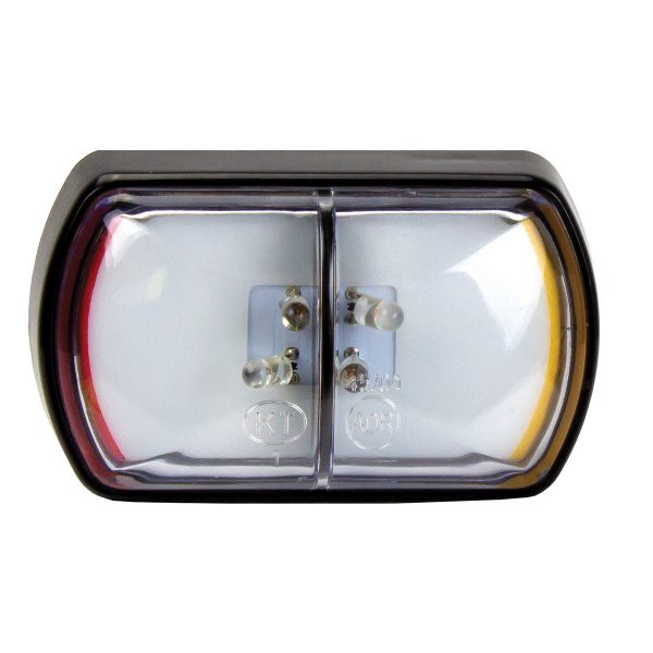 Side Marker Lamp, Red/Amber, Multi-volt, 58mm x 35mm