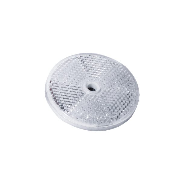 Reflector, Round, Clear, 60mm, 50 Piece Blister Pack