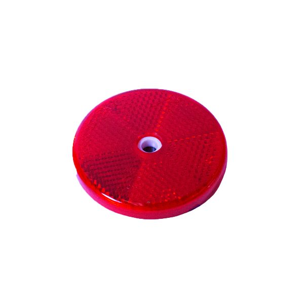 Reflector, Round, Red, 60mm, Twin Pack