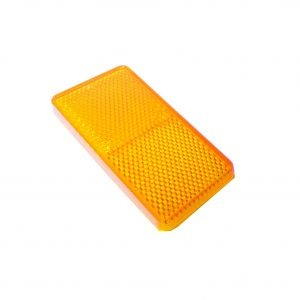 Reflector, Amber, 70mm x 30mm, 50 Piece Blister Pack