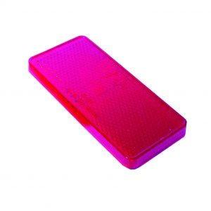 Reflector, Red, 70mm x 30mm, 50 Piece Blister Pack