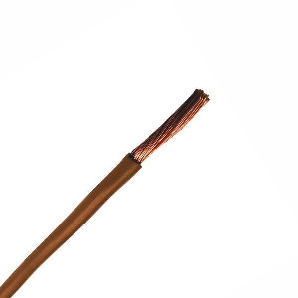 Automotive Single Core Cable, Brown, 6mm, 65/.30 Stranding, 30M