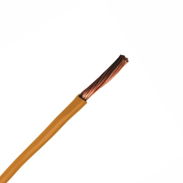 Automotive Single Core Cable, Orange, 6mm, 65/.30 Stranding, 30M