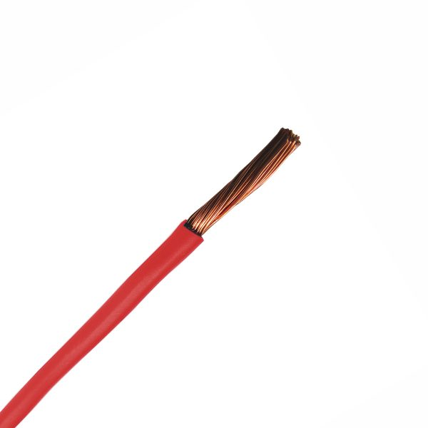 Automotive Single Core Cable, Red, 6mm, 65/.30 Stranding, 30M