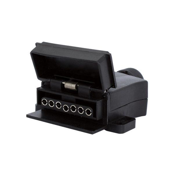 7 Pin, Flat Trailer Socket, LED