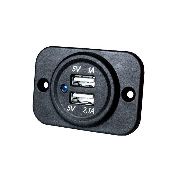 Accessory Socket, Single, 12V, Flush Mount