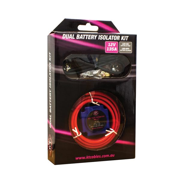 Dual Battery Isolator Kit, 12V/135Amp