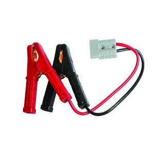 Insulated Battery Clamps, 50Amp Plug, ( 8mm_), 30cm