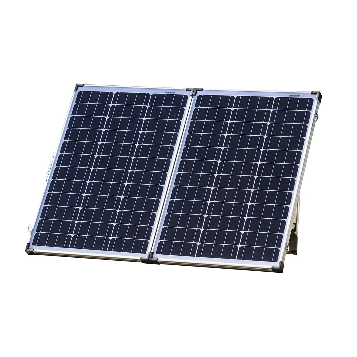 120 Watt 12v Mono Crystalline Folding Solar Panel Kit