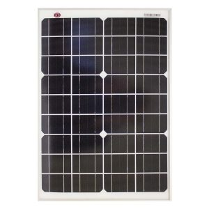 20 Watt, 12V Single Cell Mono-crystalline Solar Panel