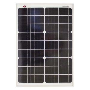20 Watt, 12V Single Cell Mono-crystalline Solar Panel