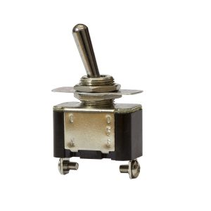 Metal Toggle Switch, On/Off, 20Amps at 12V, 10Amps at 24V, Retail Blister Qty 1